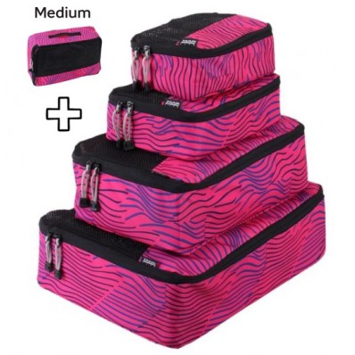 ZOOMLITE SMART PACKING CUBES SET PINKSTRIPE