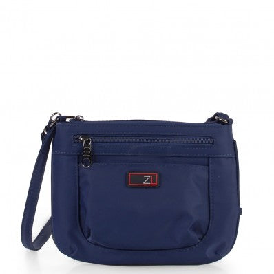 ZOOMLITE ANTI-THEFT MINI CROSSBODY ORGANISER BAG NAVY BLUE