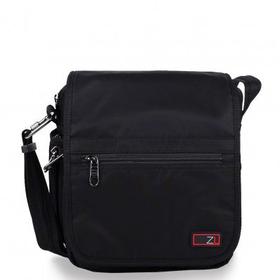 ZOOMLITE ANTI-THEFT FLAP MESSENGER BAG BLACK