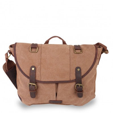 ZOOMLITE KAKADU CANVAS CASUAL MESSENGER CAMEL BROWN