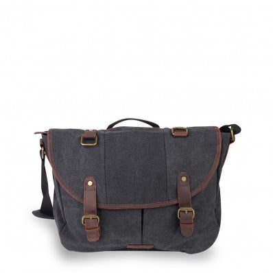 ZOOMLITE KAKADU CANVAS CASUAL MESSENGER CHARCOAL GREY