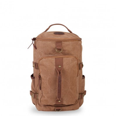 ZOOMLITE KAKADU CANVAS CASUAL BACKPACK/DUFFLE BAG CAMEL BROWN