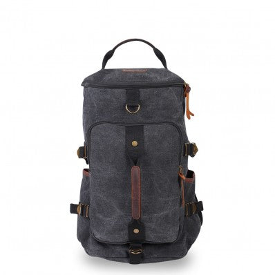 ZOOMLITE KAKADU CANVAS CASUAL BACKPACK/DUFFLE BAG CHARCOAL GREY