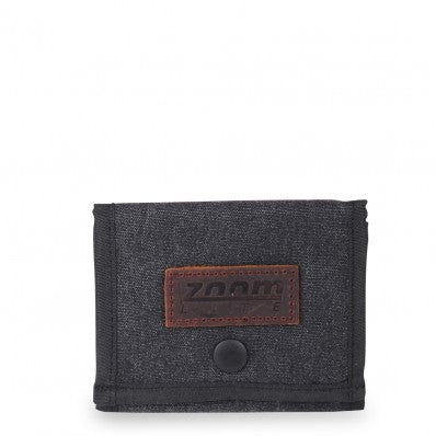 ZOOMLITE KAKADU CANVAS CASUAL WALLET CHARCOAL GREY