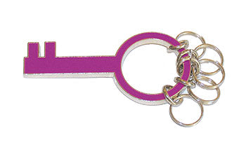 Purple Key Keyring