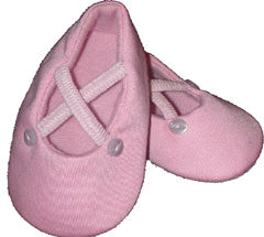 Penelope Lane Pink Ballerina Shoes (6 - 12 months)