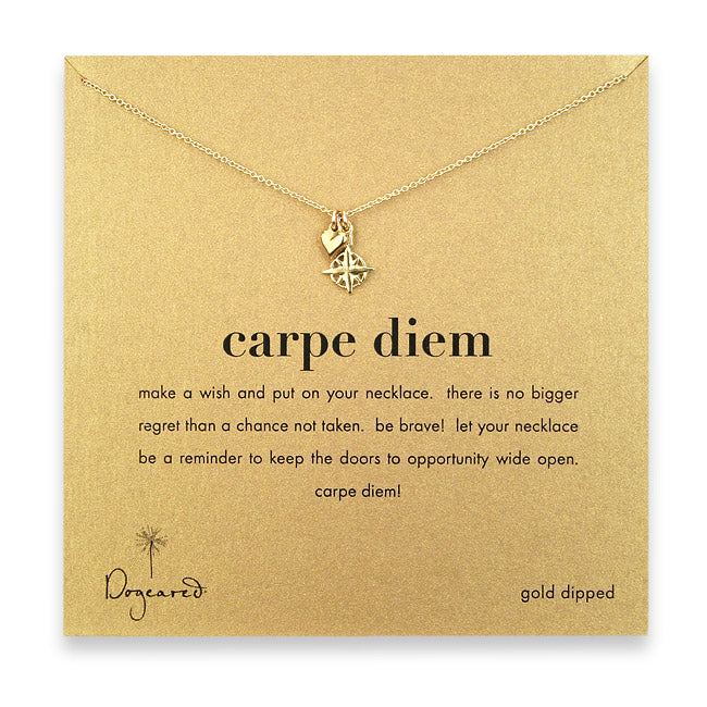 Dogeared Carpe Diem Necklace - Gold Dipped