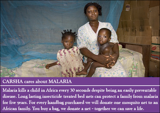 Carsha Cares About Malaria Donate A Mosquito Net