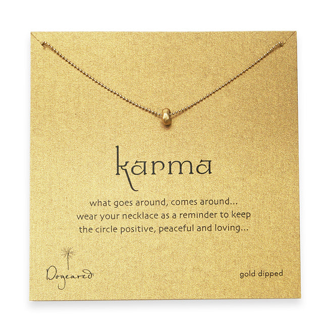 Dogeared Karma Bead Necklace - Gold Dipped