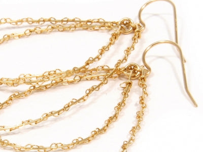 Gorjana Gold Plated Lace Hoop Earrings