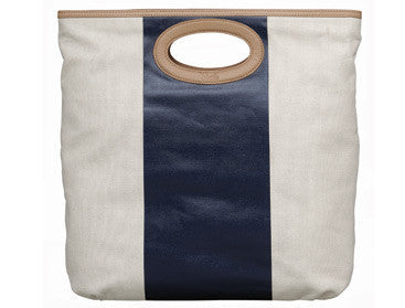Skalli Paris Large Leather Hand Bag - Navy
