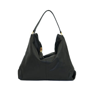 Manzoni Leather Slouchy Bag (Style N359)