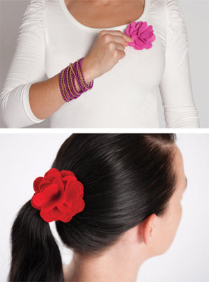 Felt Posies - Hair Clip or Brooch
