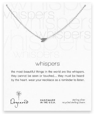 Dogeared Whispers Heart Necklace - Sterling Silver