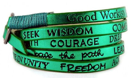 Good Works Make A Difference Rainbow Metallic Wrap Around Bracelet
