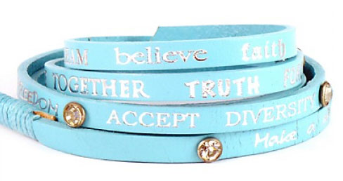 Good Works Make A Difference Crystal Wrap Around Bracelet