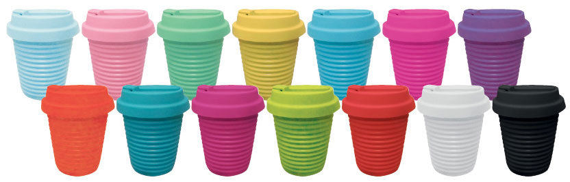 Silicone Eco Coffee Cup w/ Flip Top Lid