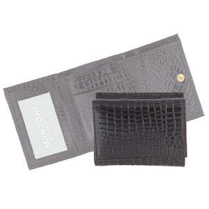 Manzoni Leather Croc Print Women's Wallet (Style W41C)