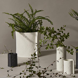 Burlap Planter in White by Zakkia - Toast and honey studio