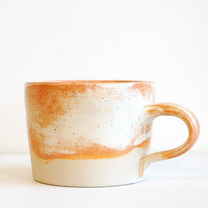 Orange matte teacup style 1 by Ceramics by George - Toast and honey studio
