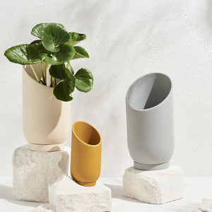 Summit Planter - Fossil by Capra Designs - Toast and honey studio