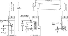 Wilwood proportioning valve, lever style M10x1mm