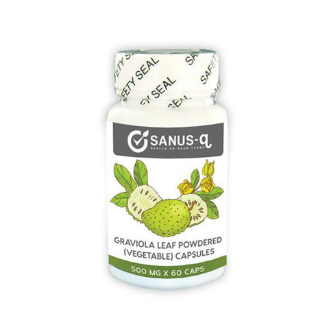 Graviola leaf powdered (vegetable) capsules – 500 mg | SANUS-q