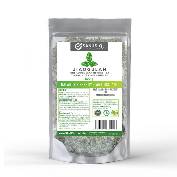 Jiaogulan Loose Leaf Herbal Tea - 100 g | SANUS-q