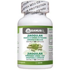 Jiaogulan Herbal Tea powdered (vegetable) capsules - 500 mg | SANUS-q