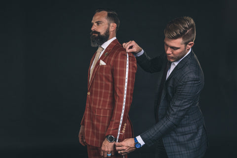 mens Custom suits are handcrafted for the perfect tailored fit