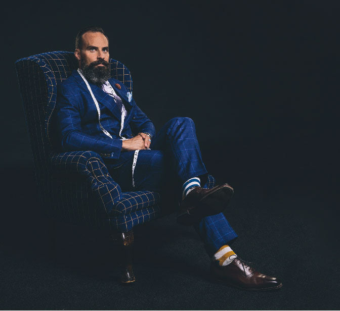 Navy Blue Hipster Suit Custom Just For You Only At True Gentlman