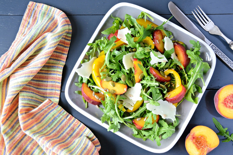 Fresh Peach Tomato Salad