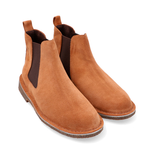Chelsea Boots Hombre Carnaza Whisky