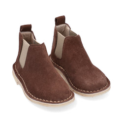 Chelsea Boots Niño Carnaza Cognac