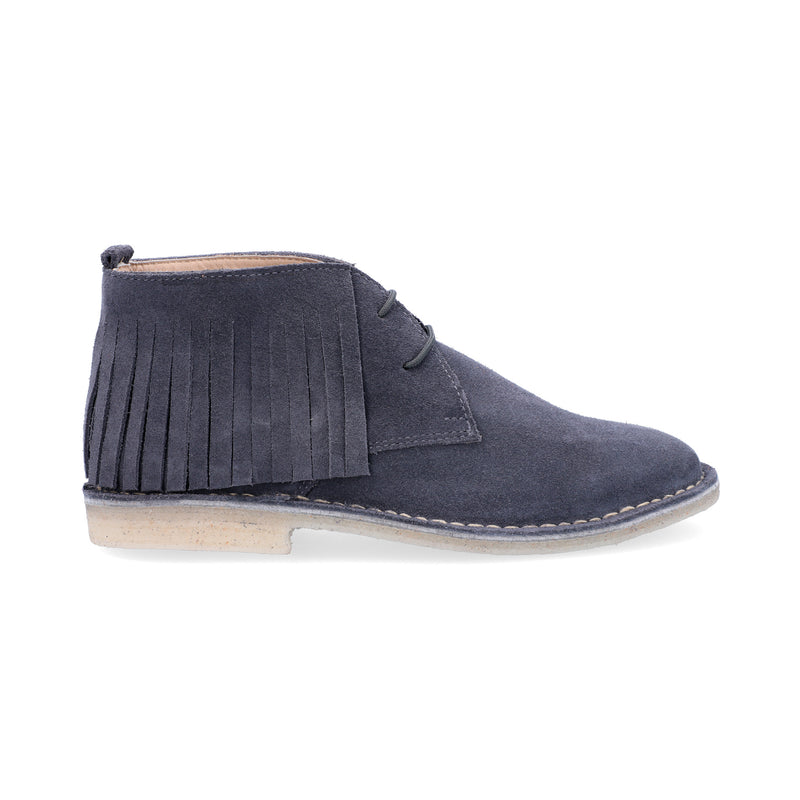 Desert Boots Mujer Flecos Fumo
