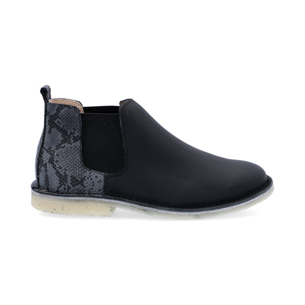 Chelsea Boots Mujer Combinado Negro Animal Print