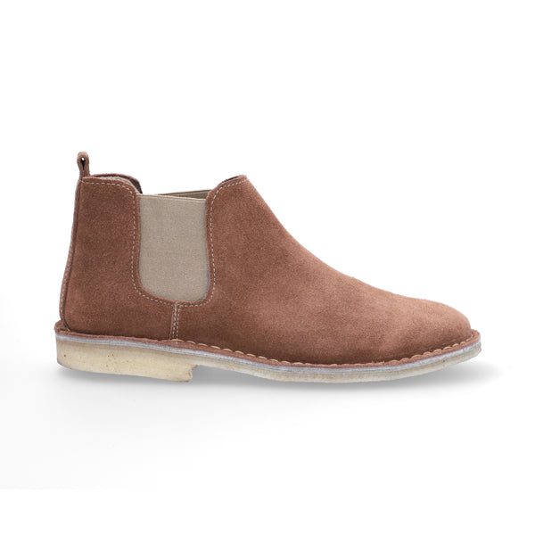 Chelsea Boots Mujer Carnaza Cognac