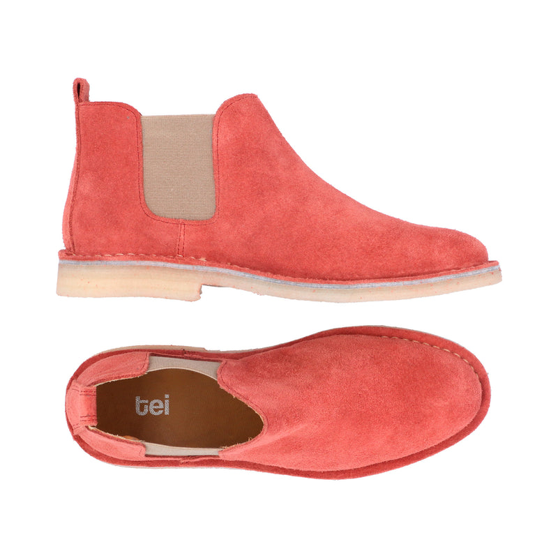 Chelsea Boots Mujer Carnaza Coral