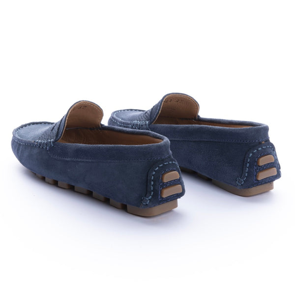 Mocasines Mujer Penny Carnaza Azul Flag