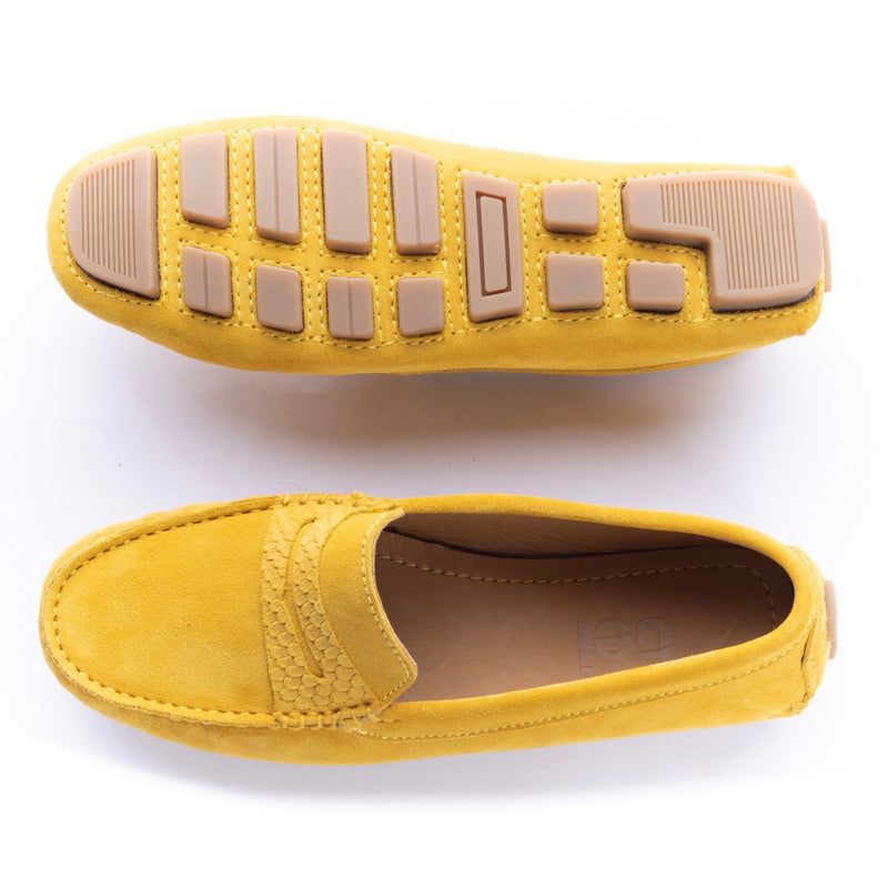 Mocasines Mujer Penny Carnaza Amarillo
