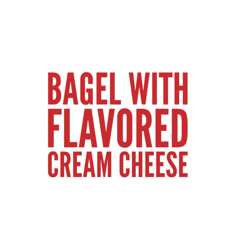Bagel with Cream Cheese (Flavored)