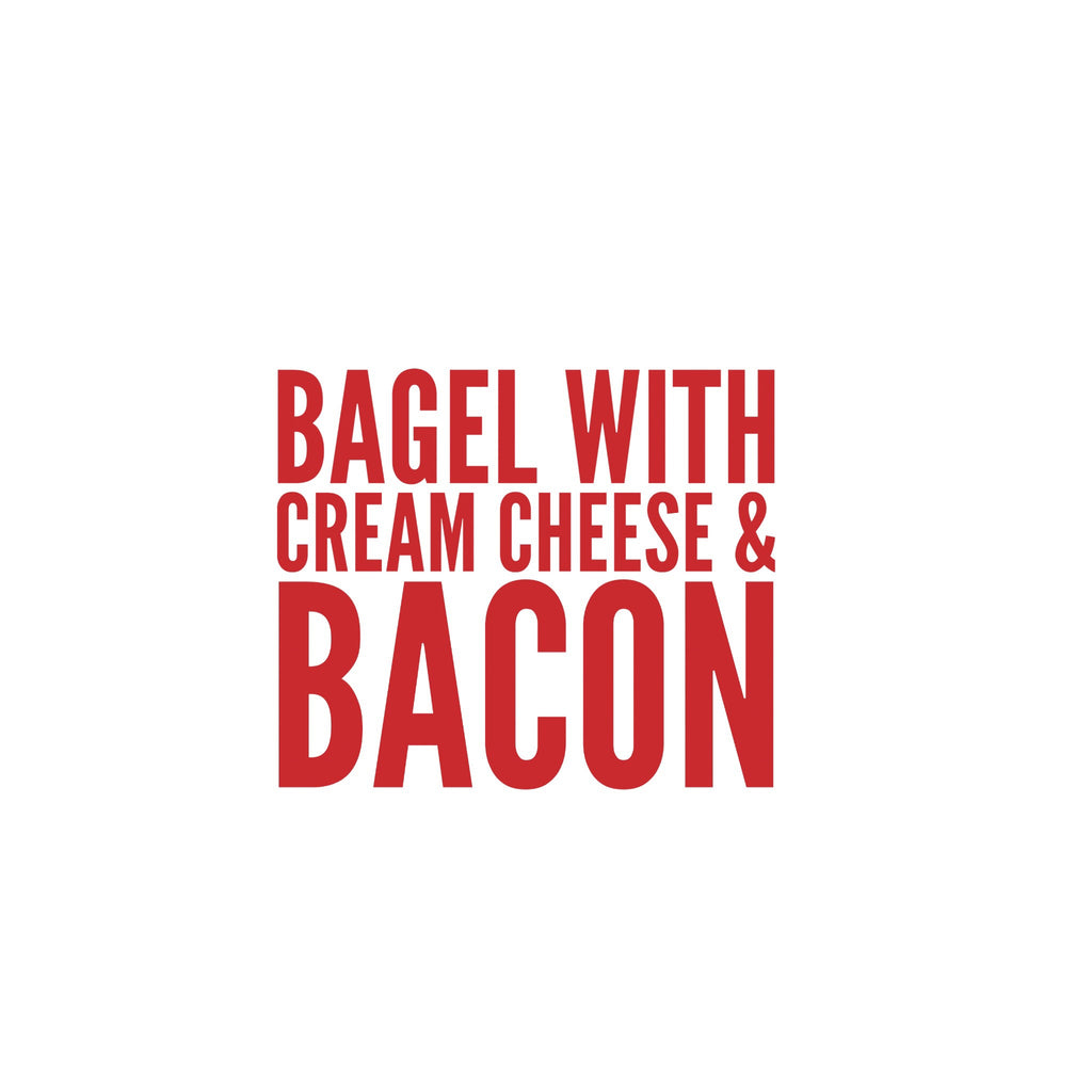 Bagel with Cream Cheese and Bacon