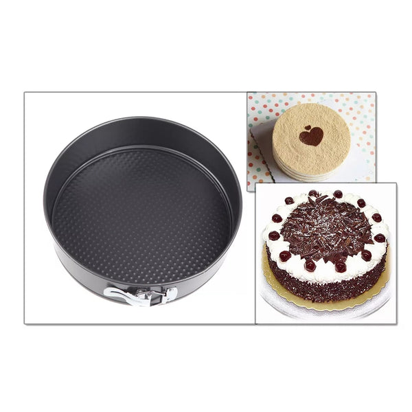 3 Piece Round Springform Cake Pan Set - Release the Baked Goods in Bakeware