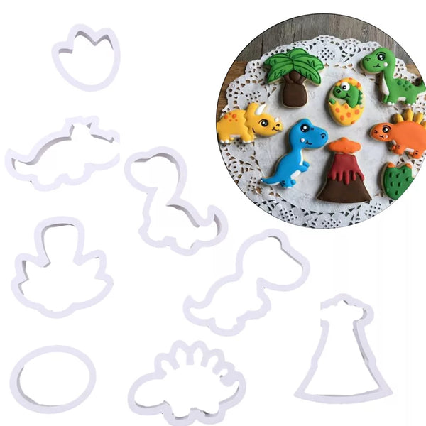 8 Piece Cookie Cutter Set - Dinosaurs Rock Collection