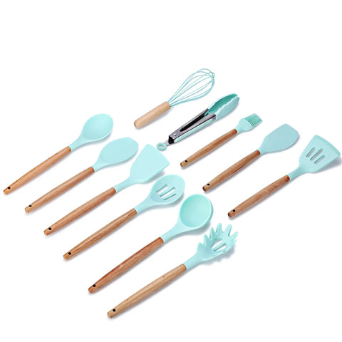 11 Piece Complete Utensil Set - Blue - Great for Every Cook and Baker