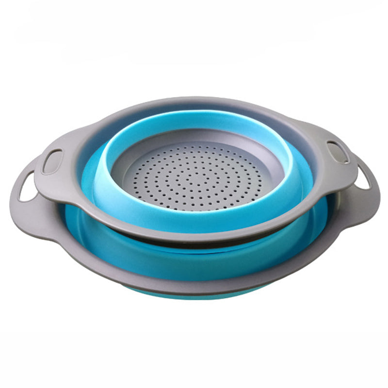 2 Piece Set Collapsible Strainer - Blue in