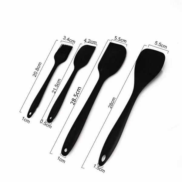 10 Piece Silicone Kitchen Tool Set - Black in Kitchen Utensil