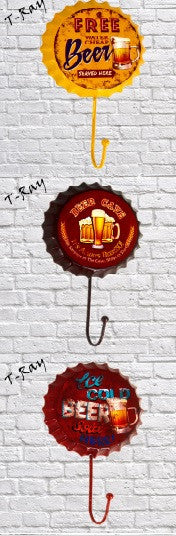 Bottle Cap with Hook - Wall Decor in Kitchen Decor
