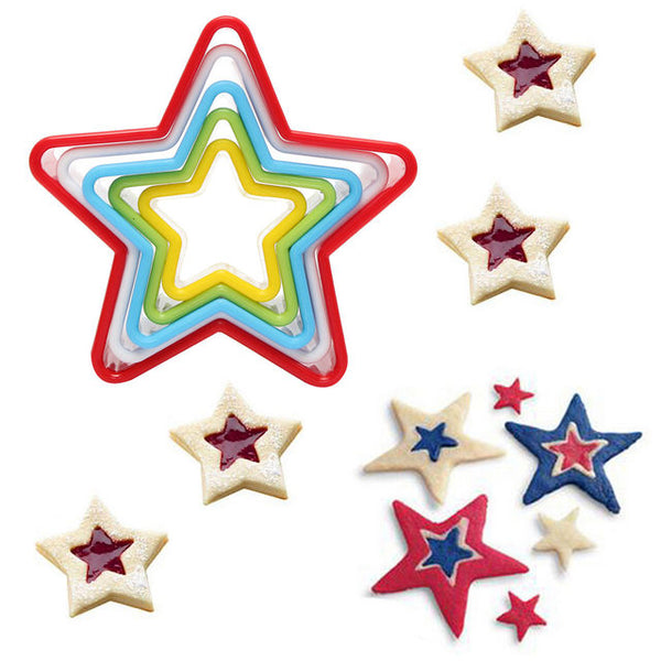 Cookies Cutter Set - Star Descending in Cutters