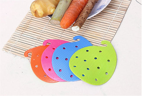 All In One Produce Brush, Bowl Pot Holder, and Lid Gripper in Food Prep
